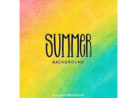 夏日背景有三种颜色_2229214
