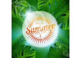 夏日背景棕榈树设计_1155220