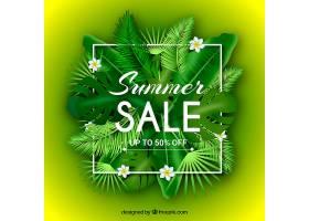 夏季销售背景植物风格写实_2347726