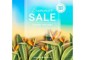 夏季销售背景植物风格写实_2347728
