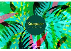 夏日的背景五颜六色的植物_2325598