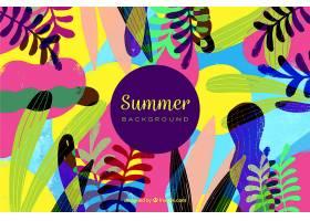 夏日的背景五颜六色的植物_2325603