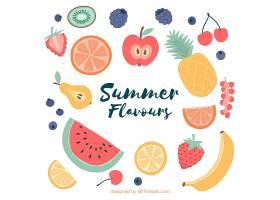 夏日的背景五颜六色的水果_1144482