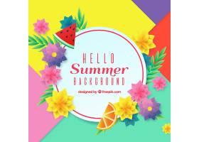 夏日的背景五颜六色的鲜花_2383098