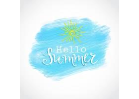 夏季背景蓝点水彩画_901285
