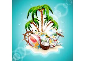 夏季背景设计_1020323