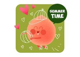 夏季背景设计_1085591