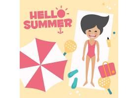 夏季背景设计_1093031