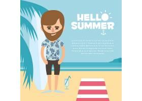 夏季背景设计_1093034