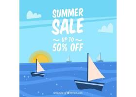 夏季销售背景平板式帆船_2181454