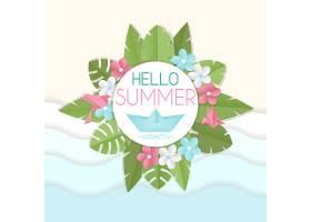 夏季花卉背景_1168908