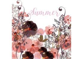 夏季花卉背景_1194453
