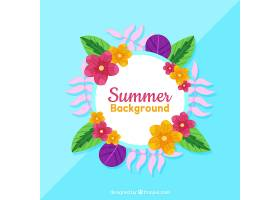 夏季花卉背景_2229215