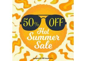 夏季销售背景与阳光_1128822
