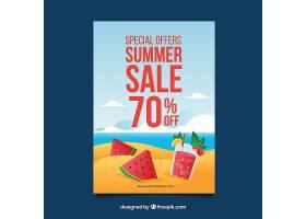 夏季销售背景含水果和饮料_2222177