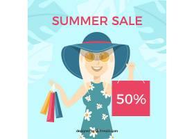 夏季销售背景带女装和手袋_2152476