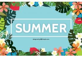 夏季热带花卉背景_1167296