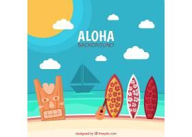 夏威夷夏季景观背景_899159
