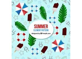 夏季元素模式与海滩元素_2307489