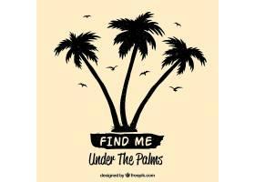 夏季引用背景棕榈树剪影_2225502