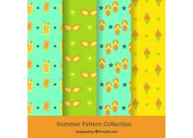四种颜色的夏日图案系列_2159612