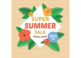 具有海滩元素的夏季销售背景_2306434
