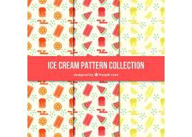 冰激凌和水果装饰图案收藏_1140293