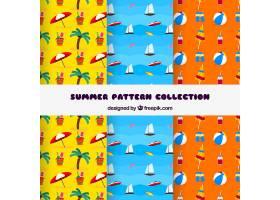 创意多彩的夏日图案系列_2159615