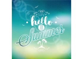 你好夏日背景沙滩设计_1155197