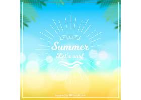 你好大海模糊的夏日背景_2218972