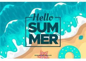 以海滩为背景的夏日背景_2146943