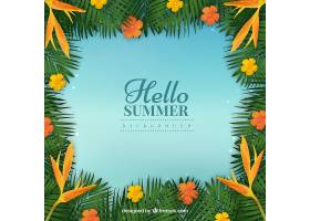 你好夏天的背景五颜六色的植物_2181324