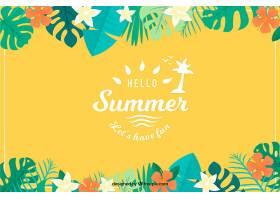 你好夏天的背景五颜六色的植物_2218970