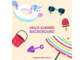 你好夏日背景有海滩元素_2141606