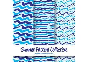 一套手绘风格的带有海滩元素的夏季图案_2181753
