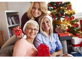 圣诞节期间的家庭时刻_10979582
