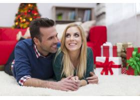 在圣诞节分享他们的爱_10677138