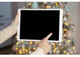 带文案空间的圣诞概念特写视图_10750984