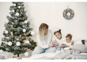 人们在为圣诞节做准备母亲和她的女儿们一_11776887