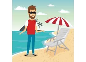 海滩上的男人角色_5154087