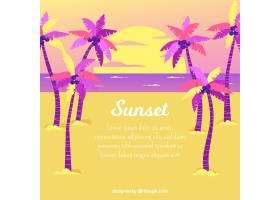 美丽日落的热带天堂海滩_2730530
