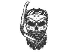 潜水面具里的骷髅_8224417