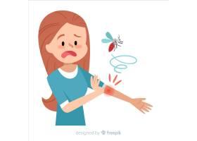 蚊子叮咬扁平设计的人_3076184