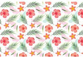 热带花卉的夏季模式_9456442