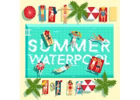 暑假游泳池公寓海报_4300478