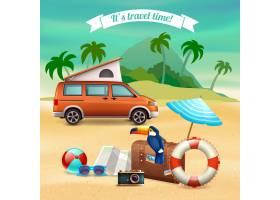 暑期写实假期海报_6203108