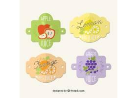 果汁平面设计的陈年装饰性标签_1105973