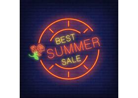 最好的夏季大减价霓虹灯字体圆形框架中_2767065