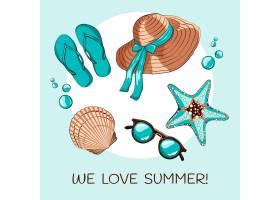 您好夏天有海滩必需品_7942626