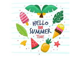 您好夏日手绘_7796048